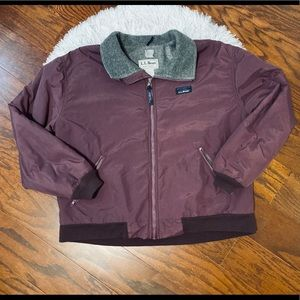 "Vintage LL. Bean ""Warm up"" fleece lined jacket"